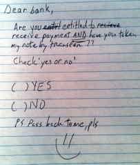 NOTE-check yes or no