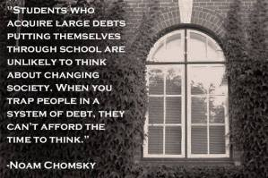 Chomsky on Student Debt