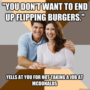 End UP Flipping Burgers
