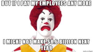 McDonald's low pay high profit