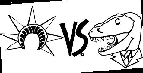 Liberties vs. Tyrannosaurs