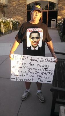 Obama Tyrant protestor