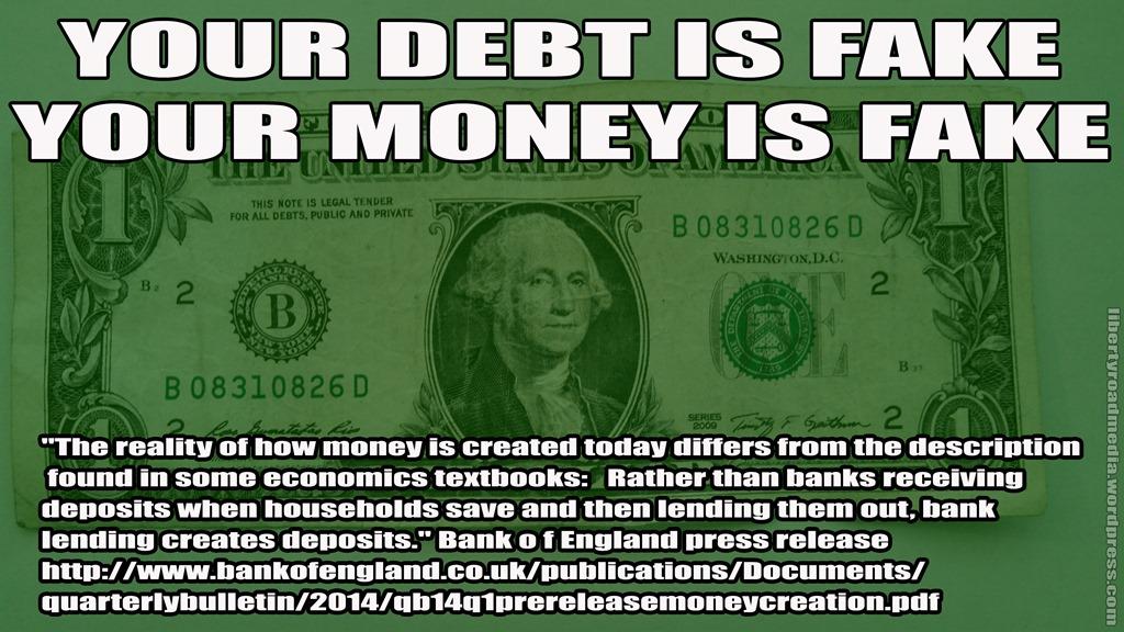 YOUR DEBT IS FAKE MEME LRM copyYoure Fake Meme