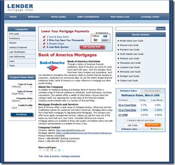 LRM-Bank of America Fannie phone number at mortgage site