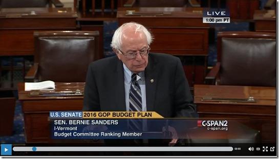 Sanders--deficit war