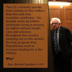 Sanders-military budget