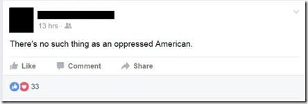 FB-No oppressed Americans